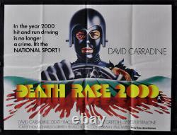 Death Race 2000 Original 1975 30x40 Nr Mint Uk Quad Affiche De Cinéma David Carradine