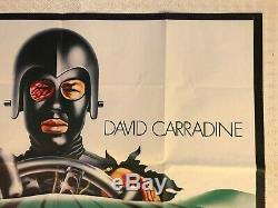 Death Race 2000 Original Film Quad Poster 1975 Stallone Carradine Chantrell Art