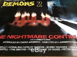 Démons 2 Original Cinema Britannique Quad Affiche Du Film Dario Argento