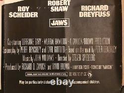 Dents De La Mer Rerelease (1976) Original Uk Film Quad