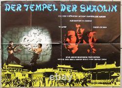 Der Tempel Der Shaolin Shaolin Temple Kung Fu Quad Affiche De Cinéma Allemande 70s