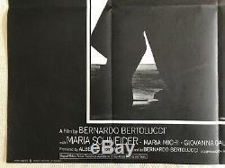 Dernier Tango À Paris Film D'original Quad Poster 1972 Marlon Brando