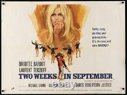 Deux Semaines En Septembre Une Coeur Joie Affiche De Cinéma British Quad Brigitte Bardot 67