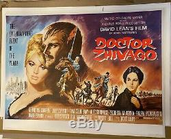 Docteur Jivago Vintage Original Uk Quad Affiche De Film Entoilée 1965