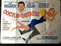 Doctor In Distress Original Quad Movie Cinema Affiche Dirk Bogarde 1963