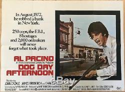 Dog Day Afternoon D'origine Britannique Film Quad Uk Film 1975 Al Pacino