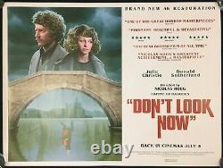 Dont Look Now Affiche De Cinéma Original Quad Julie Christie Nicolas Roeg