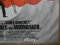 Double Double-0-seven (années 1980) -affiche Originale De Quad Au Royaume-uni, James Bond 007, Rare