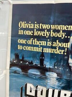 Double Jeopardy Original 1983 Royaume-uni Quad Chantrell Art Film Poster Rare