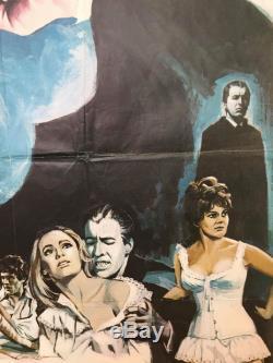 Dracula A Ressuscité De La Tombe Britannique British Quad (1968) Film Affiche Originale