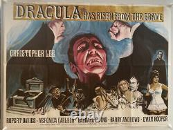 Dracula A Ressuscité De The Grave Uk British Quad (1968) Affiche De Film Originale