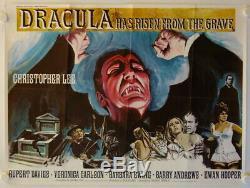 Dracula Est Passé De La Grave Sortie D'origine Britannique Affiche De Film Quad