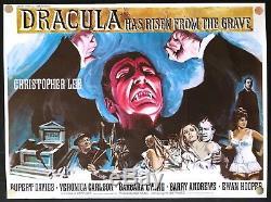 Dracula Est Sorti De La Tombe 1968 Affiche De Film Originale Quad Britannique 30x40