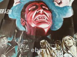 Dracula Has Risen From The Grave Affiche Quad Originale. 1968 Hammer Film D'horreur