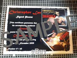Dracula Signe Autographié Christopher Lee