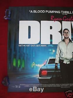 Drive 2011: Affiche Du Film Britannique Quad Ryan Gosling Carey Mulligan D / S