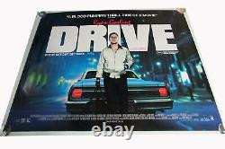 Drive Film Uk Quad Poster Original D/s Taille Complète Ryan Gosling Presque Parfait
