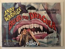 Du Sang Pour Dracula Original Uk Quad Affiche Du Film D'andy Warhol