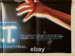 E. T. Original Movie Quad Film Poster 1982 Spielberg Henry Thomas John Alvin Art