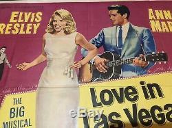 Elvis Affiche De Film D'amour À Las Vegas Aka Viva Las Vegas Uk Quad 1964