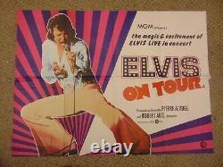 Elvis On Tour 1972 Elvis Presley British Quad 30x40 Affiche N8125