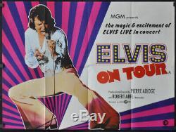 Elvis On Tour 1972 Original 30x40 Near Mint Uk Quad Affiche Du Film Elvis Presley
