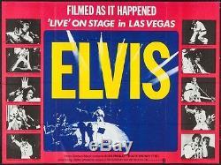 Elvis Presley Que De La Réalité Actuelle Britannique Affiche De Film Quad Elvis On Stage 1970