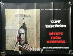 Escape From Alcatraz Original Quad Movie Cinema Affiche Clint Eastwood 1979