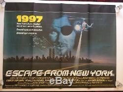 Escape From New York, Affiche Du Film De Cinéma Britannique Quad John Carpenter