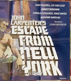 Escape From New York Kurt Russell Affiche De Film Originale Du Quad Libanais Des Années 80