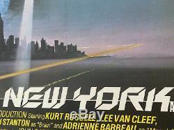 Escape From New York, Uk Quad Entoilée (1981) Original Film Affiche Vintage