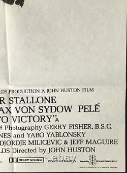 Escape To Victory Original Quad Movie Poster 1981 Michael Caine John Huston Pelé