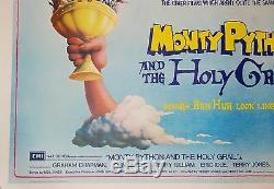 Et Le Monty Python Graal 1975 Colombie Quad Entoilée Movie Poster 50e