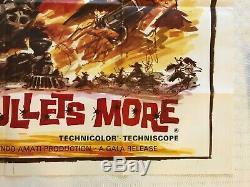 Et Pour Quelques Balles Plus Originales De Films Quad Poster 1967 Edd Byrnes George Hilton