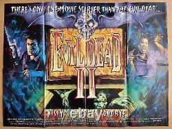 Evil Dead 2 Original British Quad Cinema Movie Affiche Graham Humphreys Art