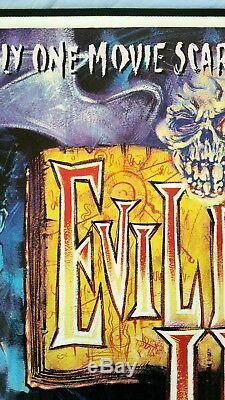 Evil Dead 2 Original De 1987 Au Royaume-uni Film De Quad Affiche Culte Zombie Horreur Sam Raimi