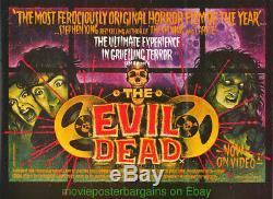 Evil Dead Film Affiche 30x40 Pouces Britannique Quad 1990 De Art Video Impressionnant