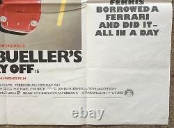 Ferris Bueller's Day Off, Affiche De Cinéma British Quad De 1986, Ferrari