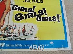 Fille Fille Fille Cinéma Original Uk Poster Film Quadien 1962 Elvis Presley Rare