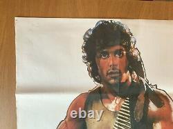 First Blood Original Movie Quad Uk Film Poster 1982