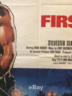 First Blood (rambo) Royaume-uni British Quad (1982) Film Affiche Originale