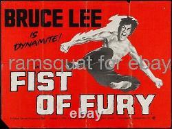 Fist Of Fury Bruce Lee Arts Martiaux Classique 1973 30x40 British Quad