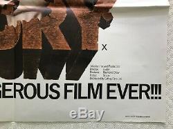 Fist Of Fury Film Original Quad Poster 1973 Bruce Lee Kung Fu