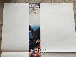 Flash Gordon 1980 Orig 30x40 Brit Quad Affiche Du Film Sam J. Jones Max Von Sydow