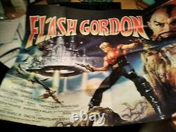 Flash Gordon Original Quad Movie Poster 1980 Sci-fi Space Opera 100cm X 75cm
