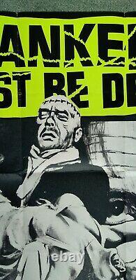 Frankenstein Doit Être Détroyé (r1970) Poster De Cinéma Quad Original Hammer Horroor