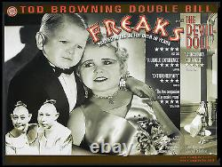 Freaks / Devil Doll Tod Browning Horror Double-bill R-2002 British Quad Rolled