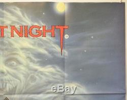 Fright Night (1985) Affiche De Film Originale Quad Cinema Roddy Mcdowell