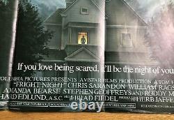 Fright Night 1985 Affiche De Film Originale Uk Quad