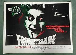 Frightmare (1974) Affiche Originale Du Quadruple Film Du Royaume-uni Rolled Innové Cannibal Horror